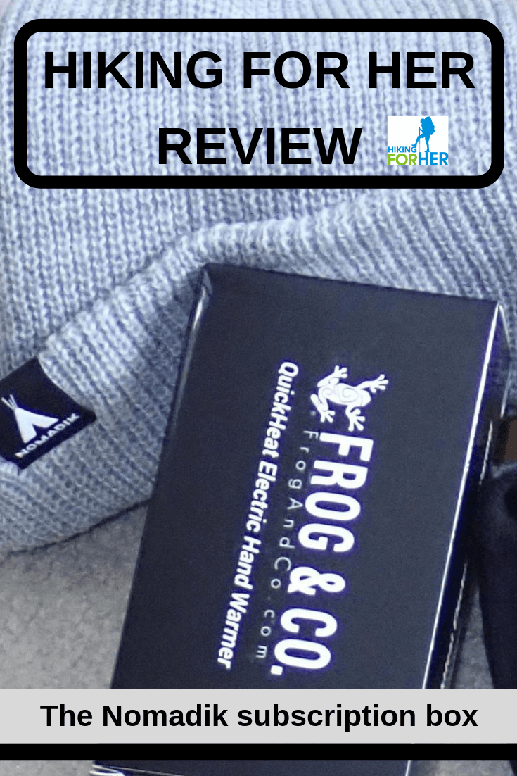 Nomadik outdoor gear subscription box review by Hiking For Her: what's in the box? #gearreview #hikingforherreview #backpacking #hiking #outdoorgear