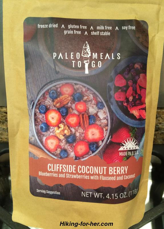 Freeze dried backpacking food in pouches