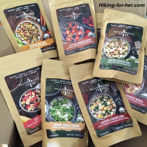 A Selection Of Freeze Dried Backpacking Meals In Resealable Pouches