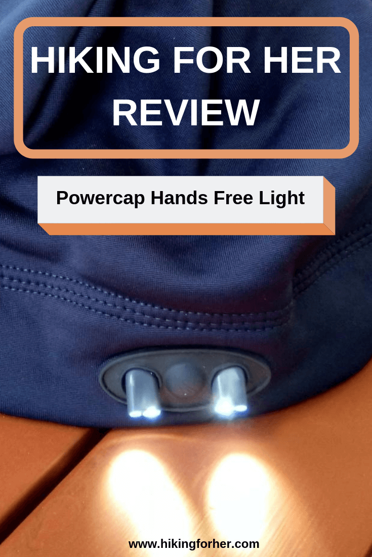 What's a Powercap? A hat with a built in LED light source, so you can do camp chores hands free. #hikingforherreview #powercapreview #handsfreelight #LEDlightsource #tenessentials #hiking #backpacking
