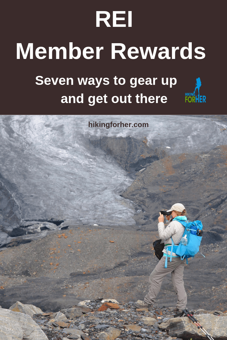 REI member rewards make joining this gear co-op a smart move. Hiking For Her gives you the details. #backpacking #hiking #REI #REImemberrewards #outdoorgear