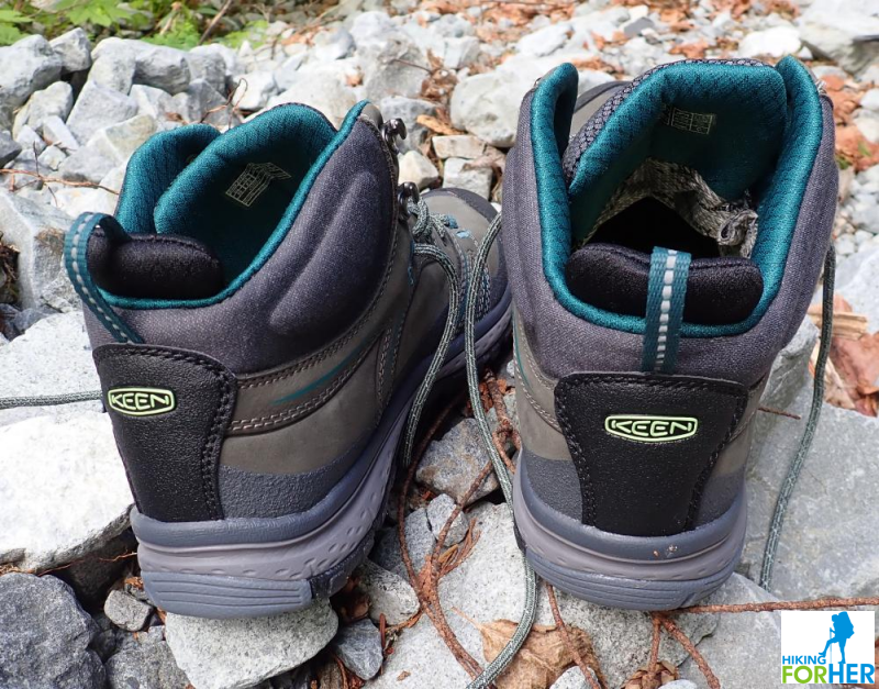 A pair of KEEN hiking boots