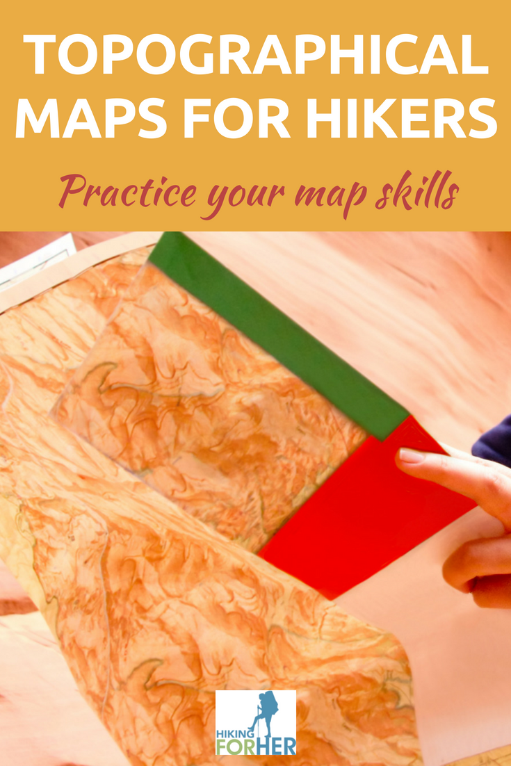 Topographical map reading is a skill any hiker should practice. Here's your chance, from Hiking For Her! #hiking #topomaps #hikingnavigation #outdoorskills #hikingsafety #backpackingmaps