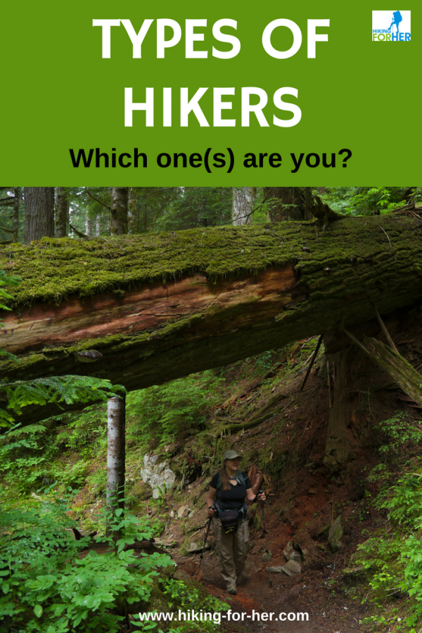 Use these Hiking For Her tips to figure out which type of hiker you are, and how to interact with all the other types of hikers you'll meet on the trail. #hiking #backpacking #hikingtips #besthiking