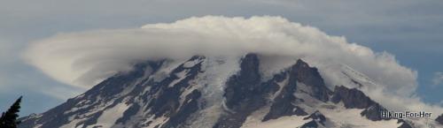 Lenticular cloud above Mount Rainier, Washington USA