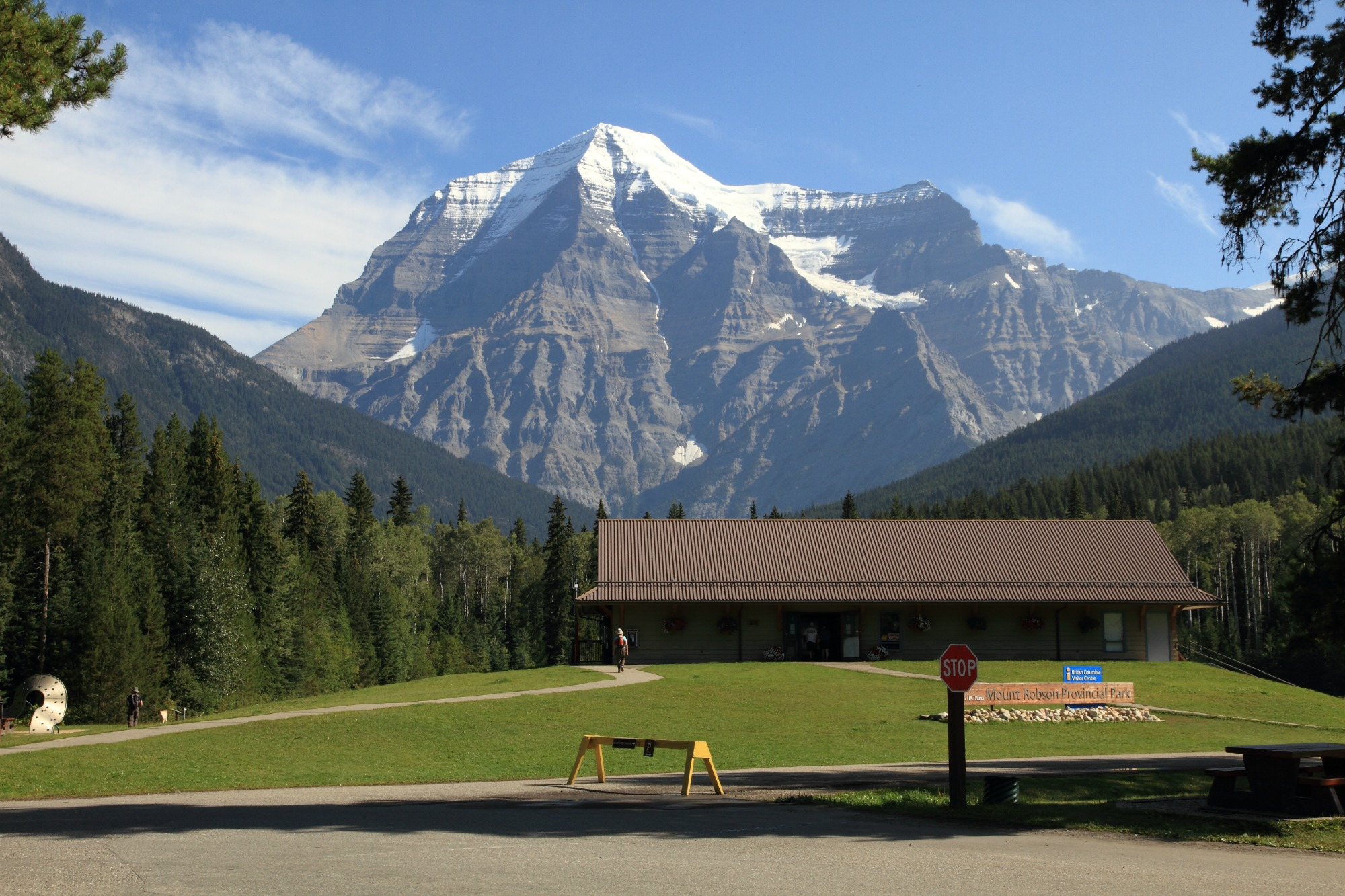 Mt Robson Visitor Center provides gorgeous view of Mt Robson