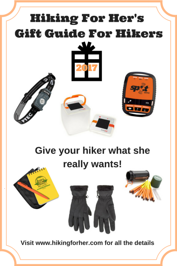 Hikers like specific gear for safety and comfort on a hiking trail. Use Hiking For Her's gift guide to choose the perfect gift for your favorite hikers. #hiking