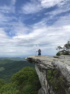 Rocking a skirt on McAffee's Knob