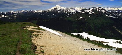 Hiking trail along ridgetop
