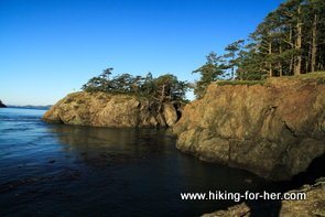 Rocky outcrop in Deception Pass waters