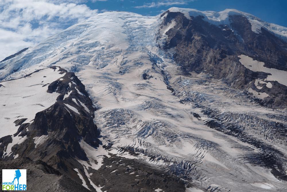 Mount Rainier closeup with Emmons Glacier