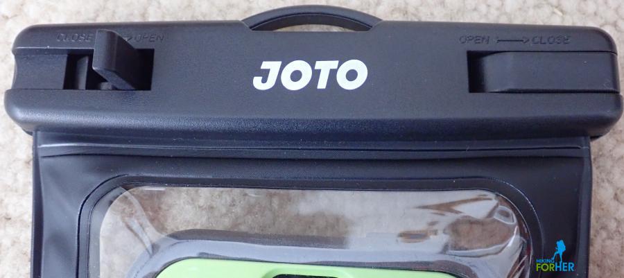 Joto logo on waterproof case