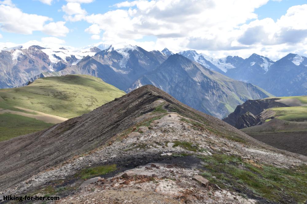 Exposed high alpine terrain at Wolverine, Wrangell St Elias, Alaska