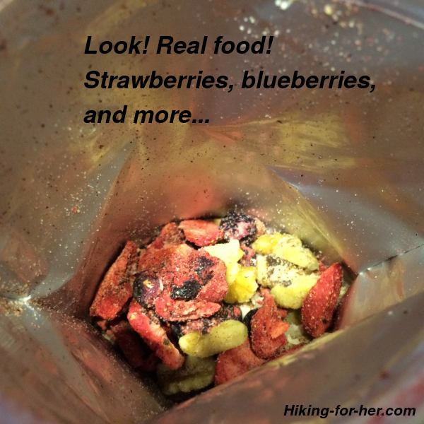 freeze dried berries in a foil pouch