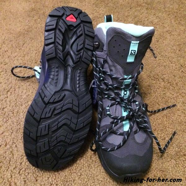 Salomon womens hiking boots, brand new and no trail dirt yet