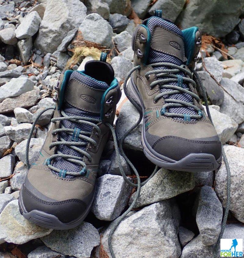 Keen Terradora women's hiking boots on rocks