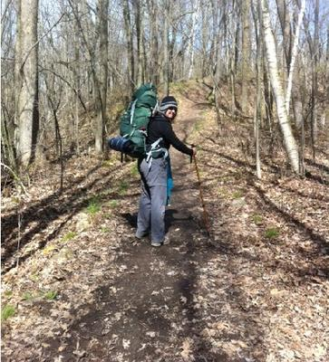Backpacking the Ice Age Trail in Kettle Moraine North State Forest - Wisconsin - March 2012