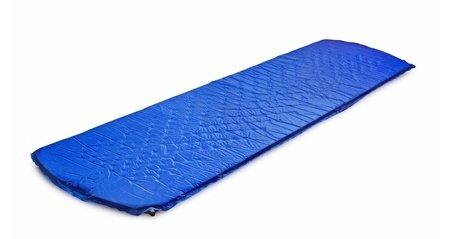 Thin blue inflatable air mattress