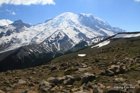 Sweeping view of Mt. Rainier